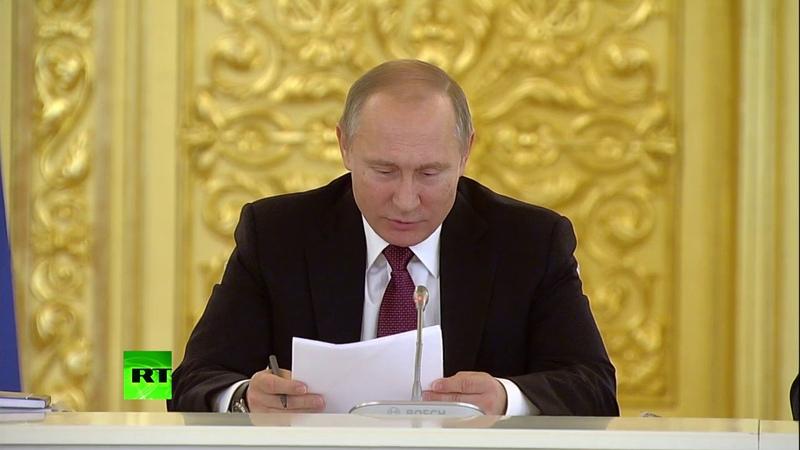 Путин удивился решению суда обвинившему человека за написание заявления в прокуратуру