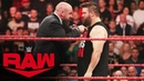 Triple H's attempt to lure Kevin Owens to NXT leads to brawl Raw Nov 18 2019