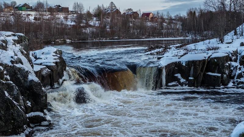 Воицкий падун Водопад в Карелии Сегежский район
