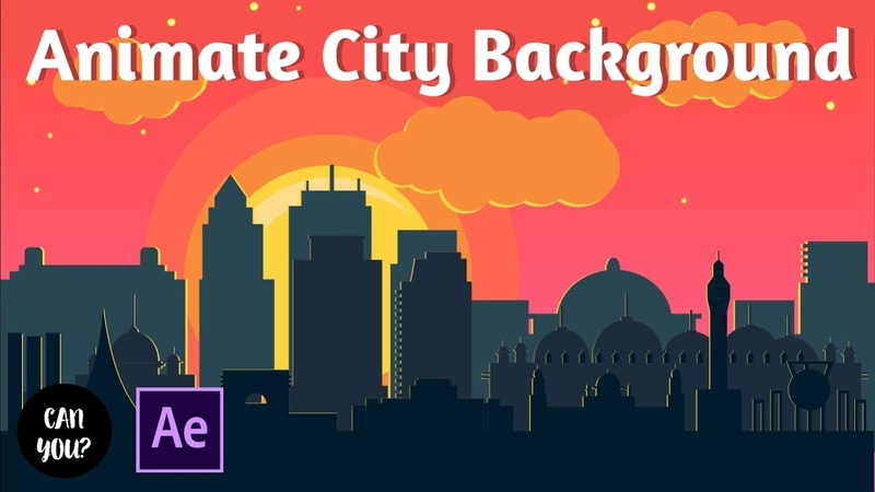 After Effects Tutorial How To Make An Animated City Background Easy After Effects Tutorial