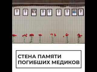 В Петербурге появилась стена памяти погибших медиков