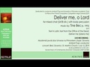 Bec Tine: DELIVER ME, O LORD (2019) for mixed choir (SATB div.) body percussion