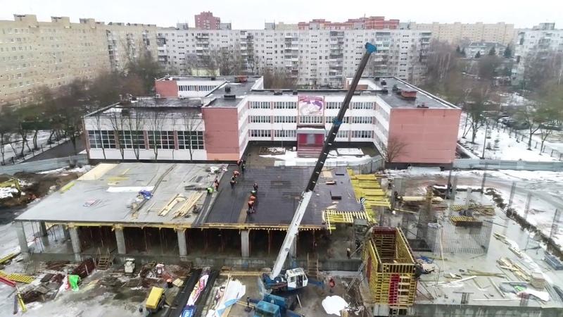 Возведение пристройки к зданию школы №16 в Орехово Зуеве