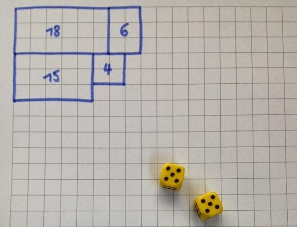 Отличная игра на двоих: Экспансия. Данная игра отлично развивает тактическое и стратегическое мышление у ребёнка, а также закрепляет таблицу умножения. Правила:1. Рисуем свой прямоугольник в