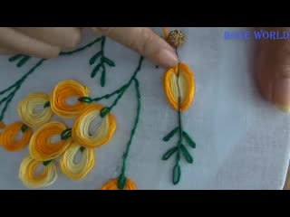 Hand Embroidery: boat neckline embroidery For Blouses/Churidar/dress|stitches video tutorial