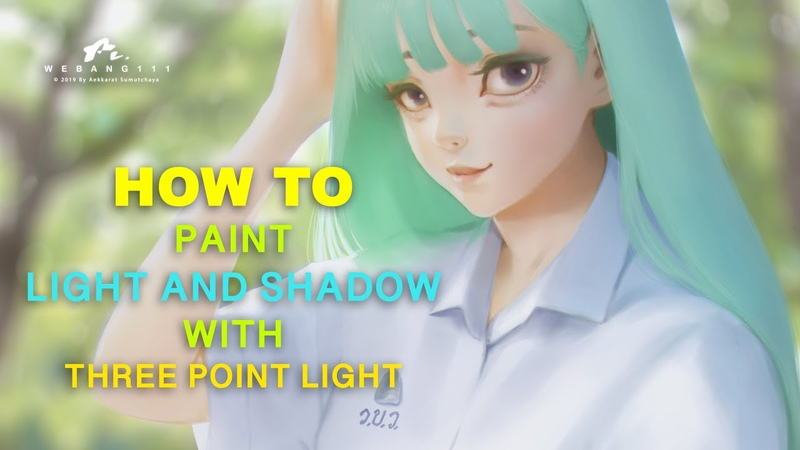 How to paint light and shadow [Sub Eng][Clip Studio Paint Pro]