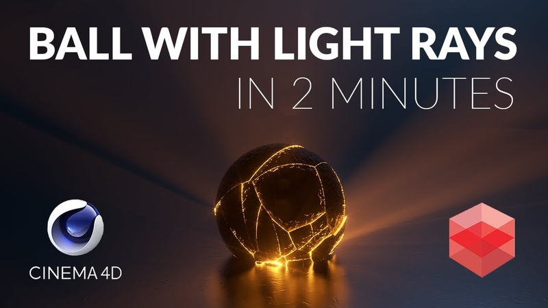 Cinema4D Tutorial Fractured Ball w Volumetric Light