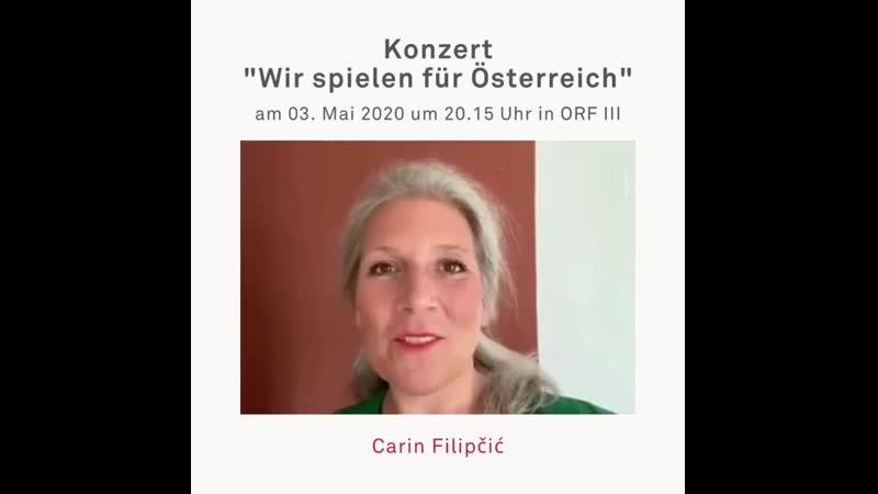 Carin Filipčić Konzert Wir spielen für Österreich