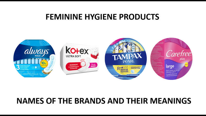 What do the names of menstrual hygene brands mean