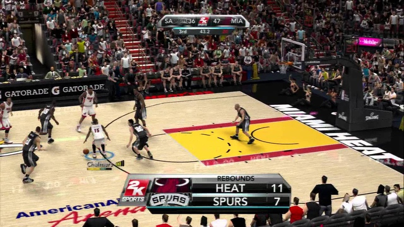 NBA 2K10 Heat vs Spurs 2013 rosters Hall of Fame Difficulty