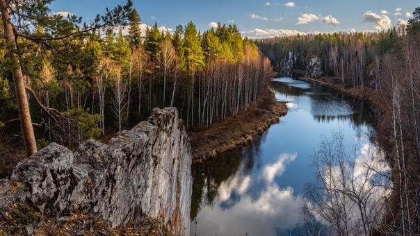 Река Чусовая в окрестностях Староуткинска Фотограф...
