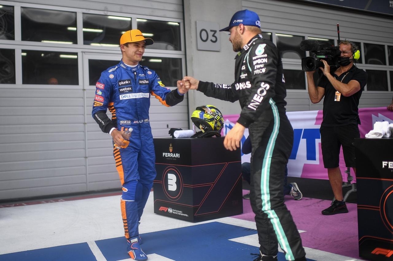 Valtteri Bottas and Lando Norris, Austrian GP 2021 by twitter