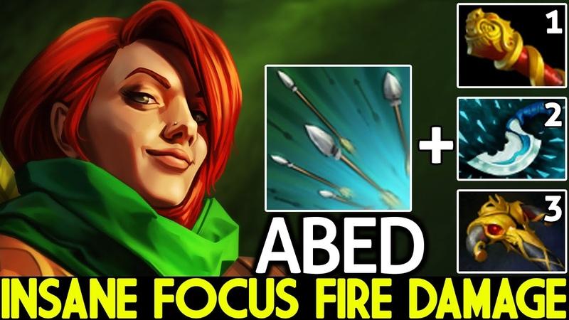 ABED [Windranger] Insane Focus Fire 1st Item MKB 7.26 Dota 2