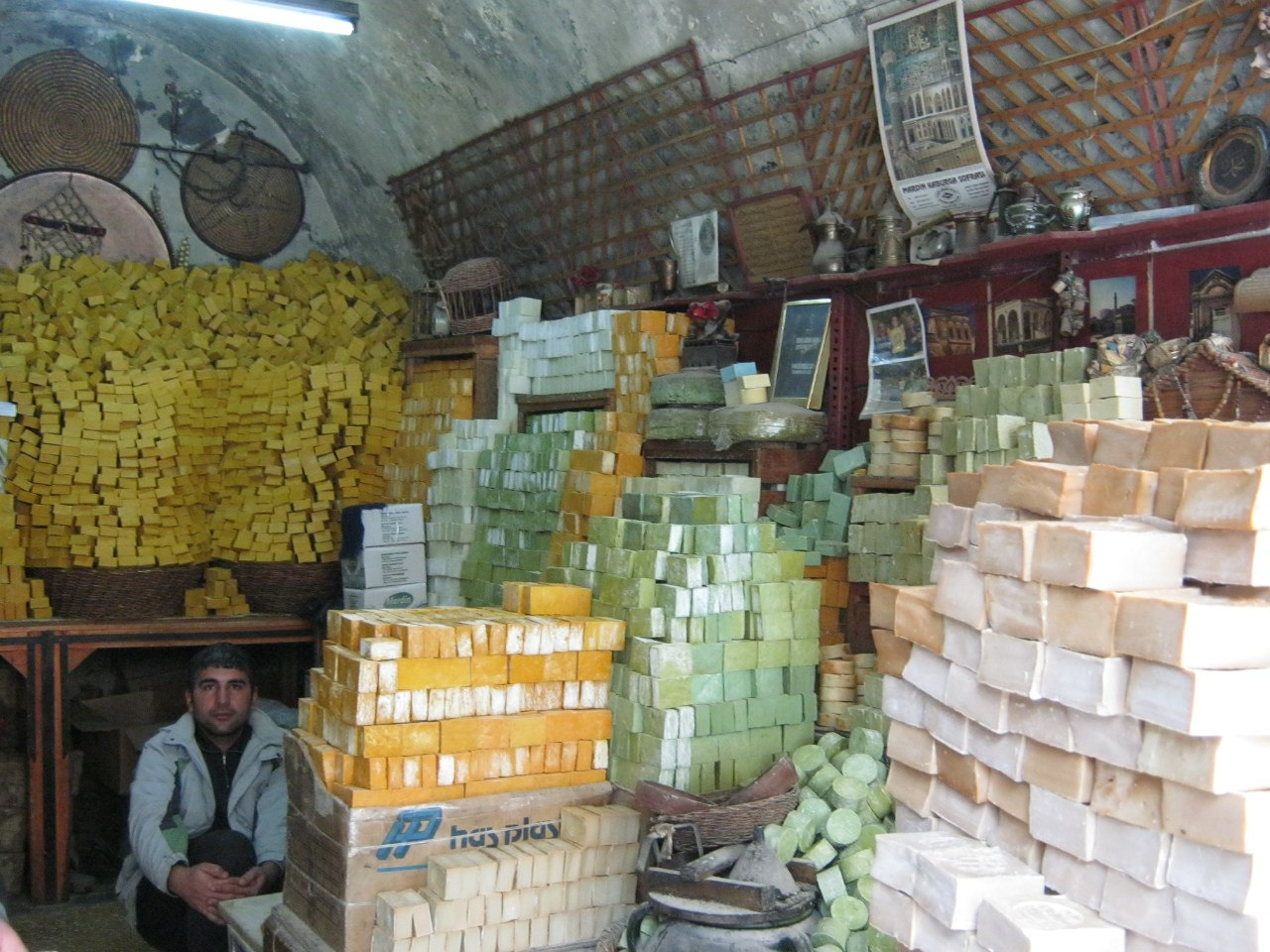В Мардин (на востоке Турции) много мыла из натуральных ингредиентов