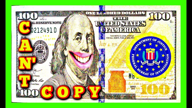 WHY YOU CANT PHOTOCOPY MONEY CAN'T PHOTOCOPY MONEY US FBI