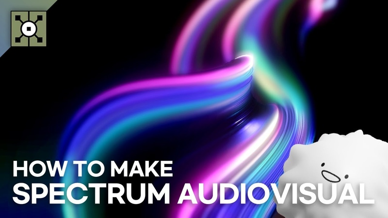 How to make spectrum shape audiovisual using feeback in Touchdesigner 터치디자이너 튜토리얼 자막