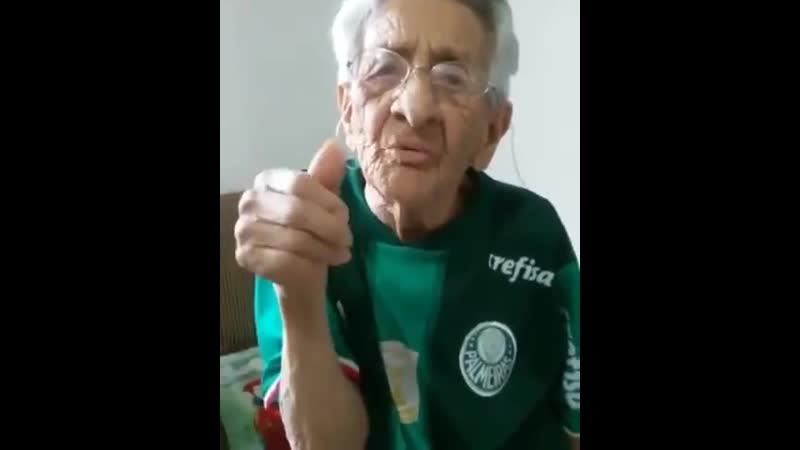 Tenho 105 anos, torço pro Palmeiras e to esperando ele ganhar o mundial