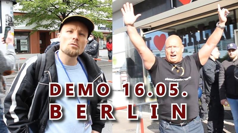 Corona-Demo mit Billy Six, Heiko Schrang uvm. (16.05.)