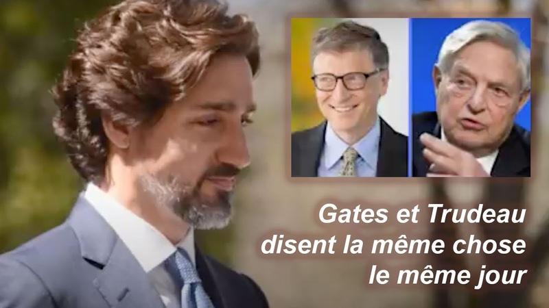 Bill Gates et Justin Trudeau disent la même chose le même jour