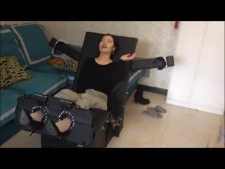 Chinese Girl Tickled In White Socks
