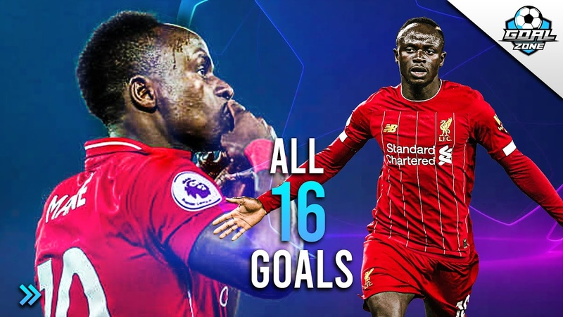 Sadio Mane All 16 Goals in Champion's League So Far