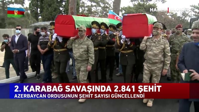 Azerbaycan Ordusunun Şehit Sayısı Güncellendi. 2. Karabağ Savaşında Şehit Sayısı 2.841e Yükseldi