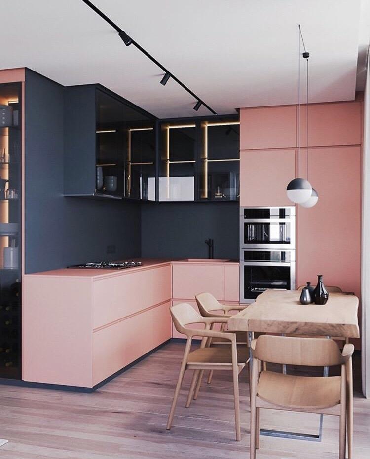 Нестандартный подход к цветовому решению кухни