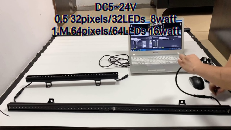 Aoshowled WS2812B SPI Pixel RGB Rigid LED Bar Pixel to Pixel DC5~24V 0 5M 32pixelsb1 0M 64pixels