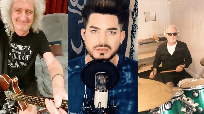 Queen Adam Lambert 'You Are The Champions' New Lockdown version Recorded on mobile phones
