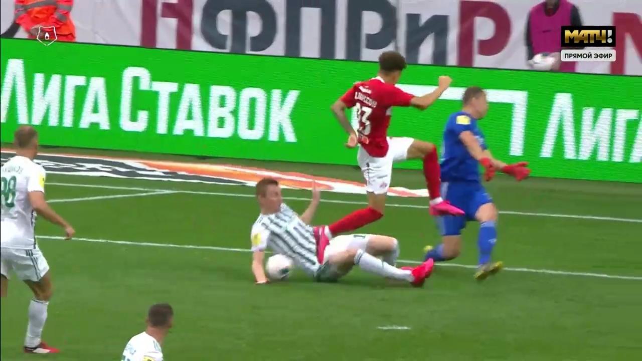 Спартак - Ахмат, 3:0. Рука Семенова в штрафной