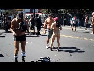 FOLSOM STREET FAIR CAM 3 STARK NAKED ASIAN HONEY. Пьяные телки. Стриптиз. Голые девушки. Большие сиськи. Пизда. Нудисты. Секс