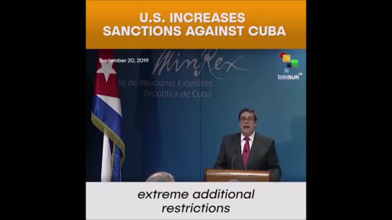 The United States is increasing sanctions against Cuba.