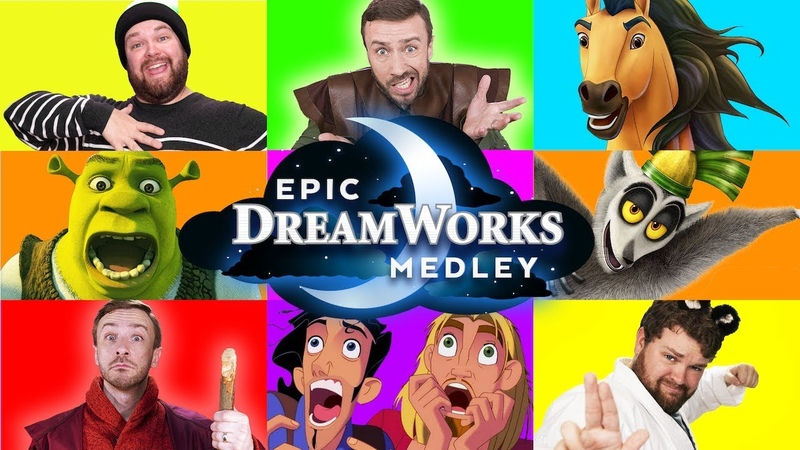 Epic Dreamworks Impressions Medley Peter Hollens ft Brian Hull