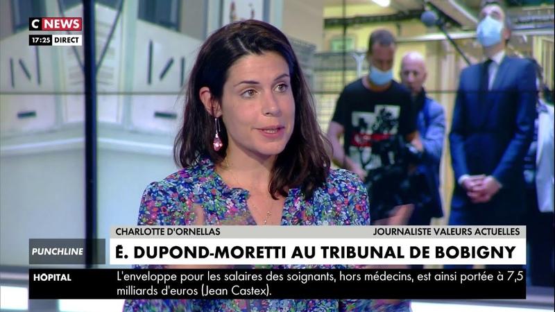Charlotte dOrnellas évoque le cas Éric Dupond-Moretti