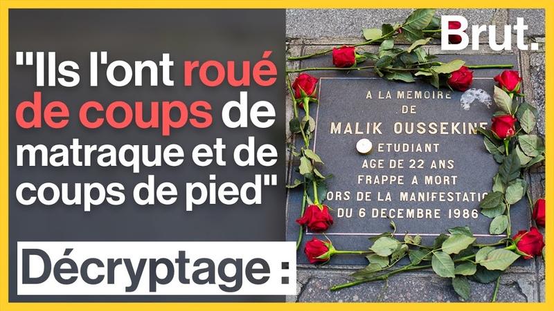 Lhistoire de Malik Oussekine, tué en 1986 par des policiers voltigeurs