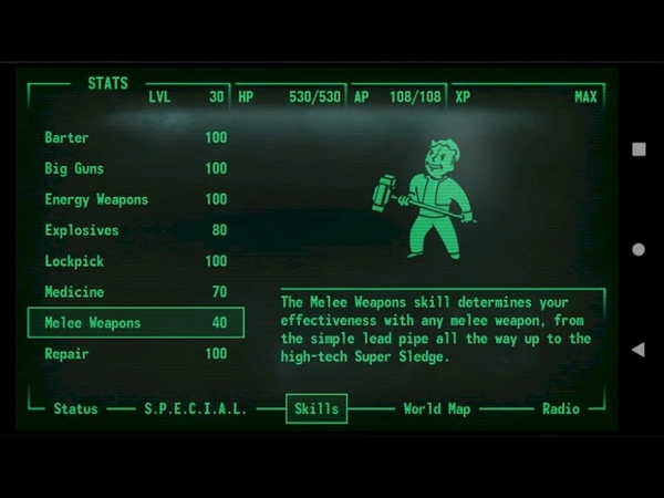Fallout 3 Android Pip-Boy 3000 App v2