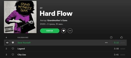 GRANDMOTHER`S GUNS ON SPOTIFY