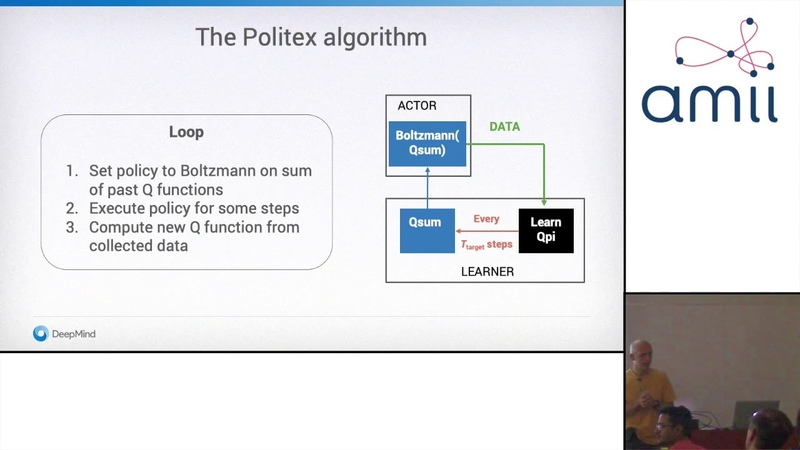 The Tea Time Talks Csaba Szepesvári, Policy Iteration using Expert Prediction (July 17)