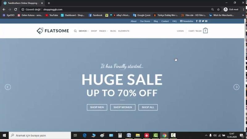 Full Flatsome Ecommerce Theme Ftatsome Tam Sürüm e ticaret Teması
